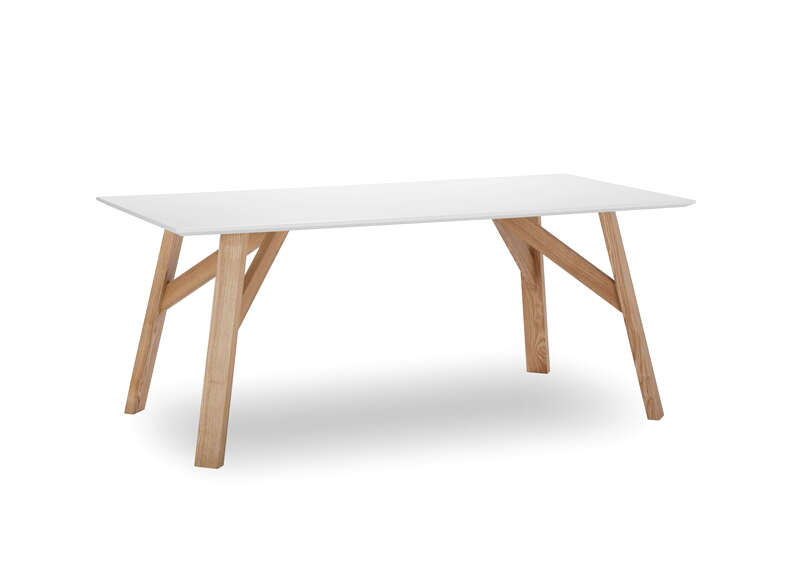 table contemporaine blanc hov - Table Contemporaine