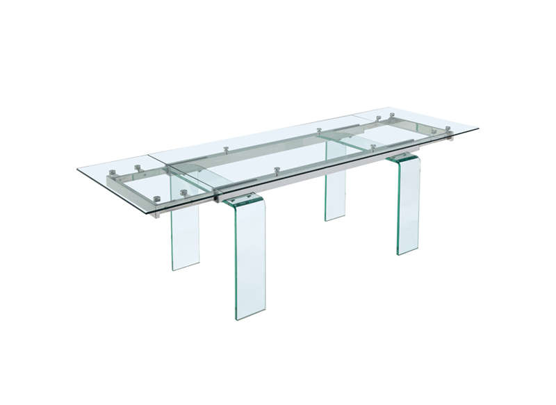 Table extensible en verre Transparent SLIGO