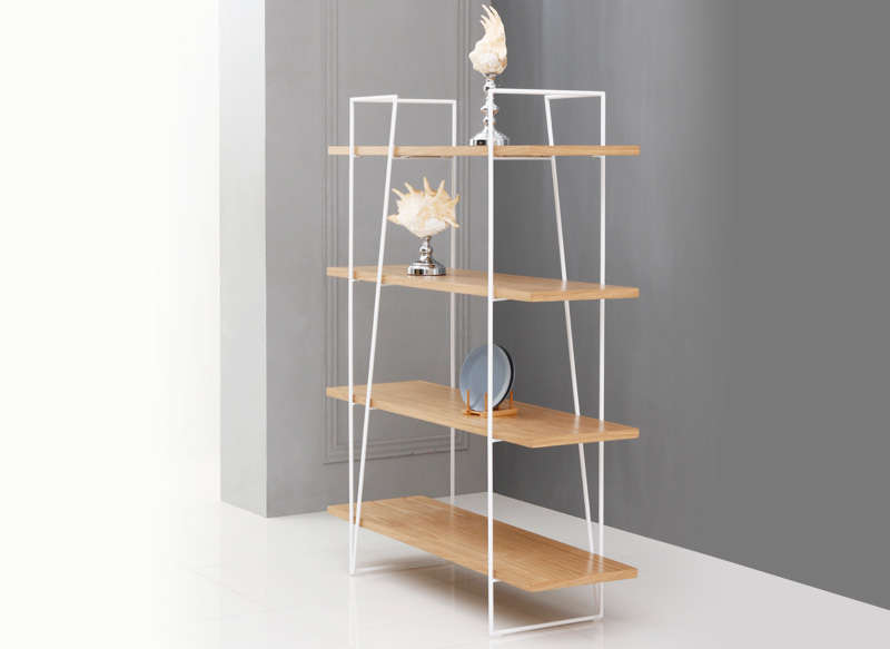 Etagere Metal Et Mdf Naturel Achatdesign