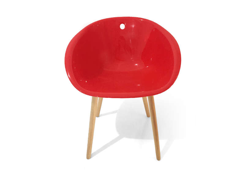 CHAISE SCANDINAVE Rouge ALBY
