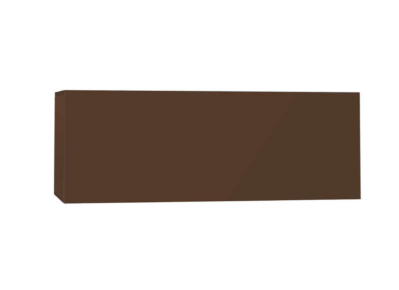 Meuble tv mural Marron Horizontal down M