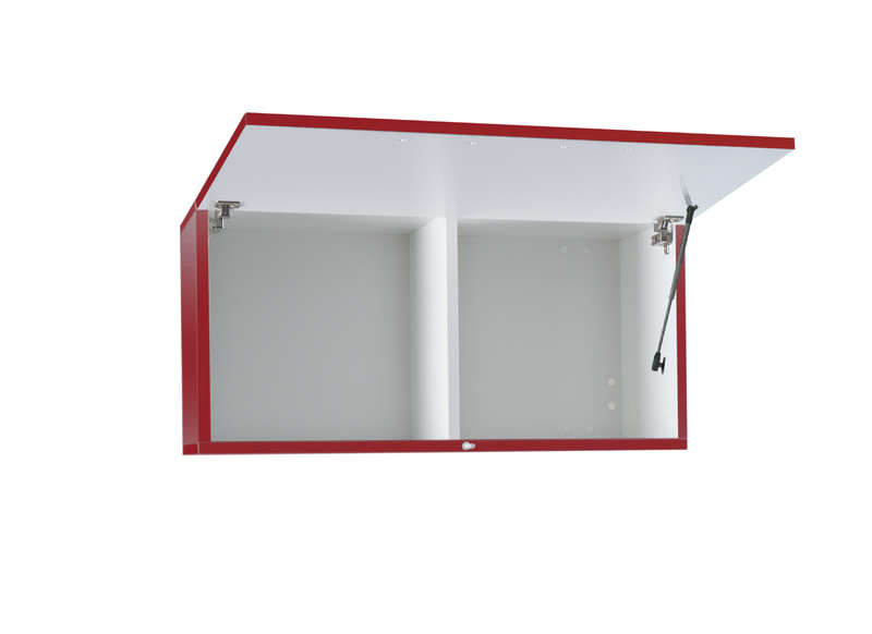 Meuble tv mural design Rouge Horizontal up S