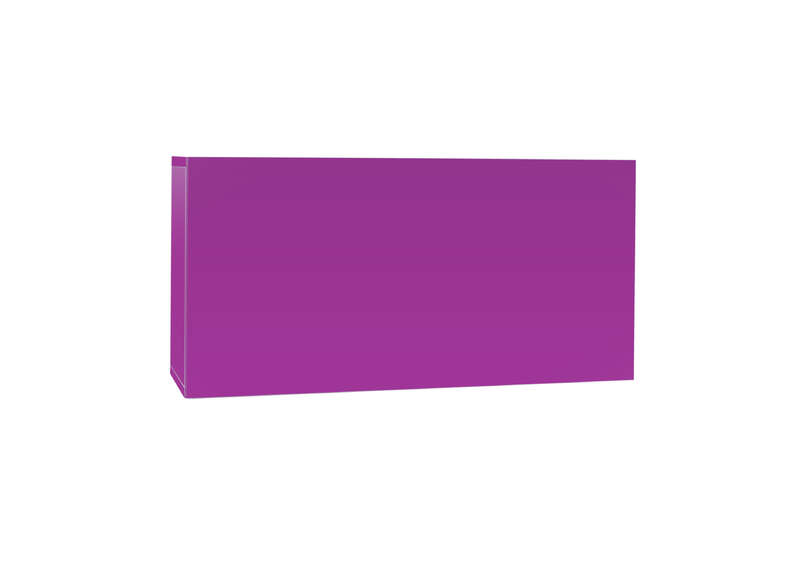Meuble tv mural Violet Horizontal down S