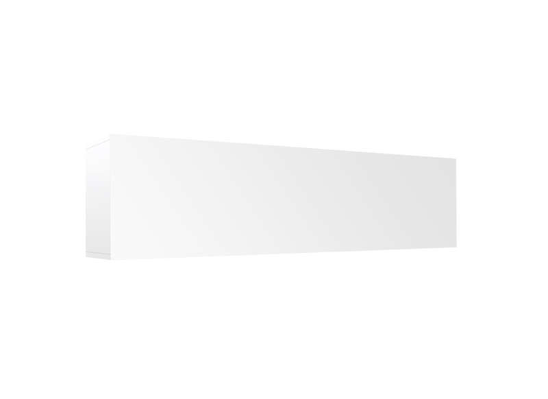 Meuble tv mural Blanc Horizontal up L