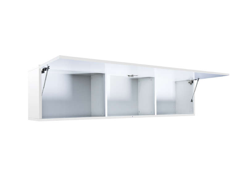 Meuble suspendu laqu blanc element haut l achatdesign for Meuble tv blanc laque suspendu