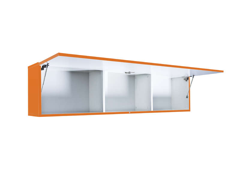 Meuble tv mural Orange Horizontal up L