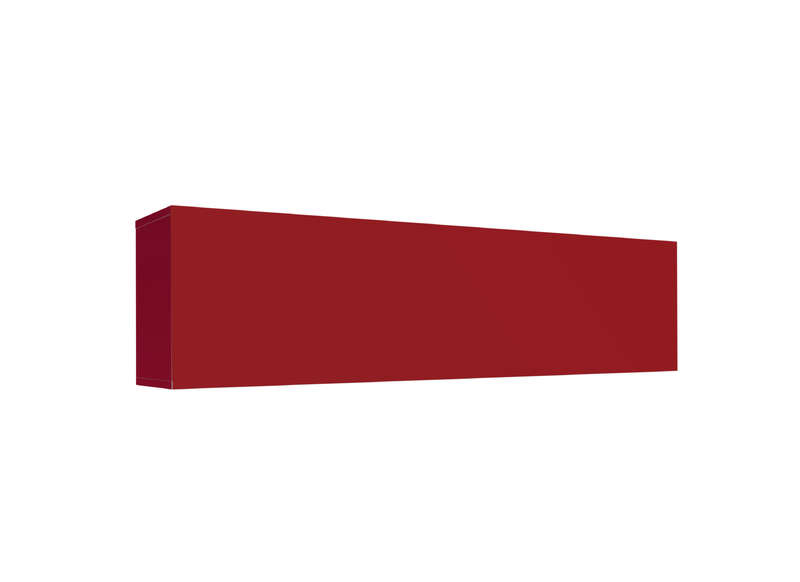 Meuble tv mural Rouge Horizontal up L