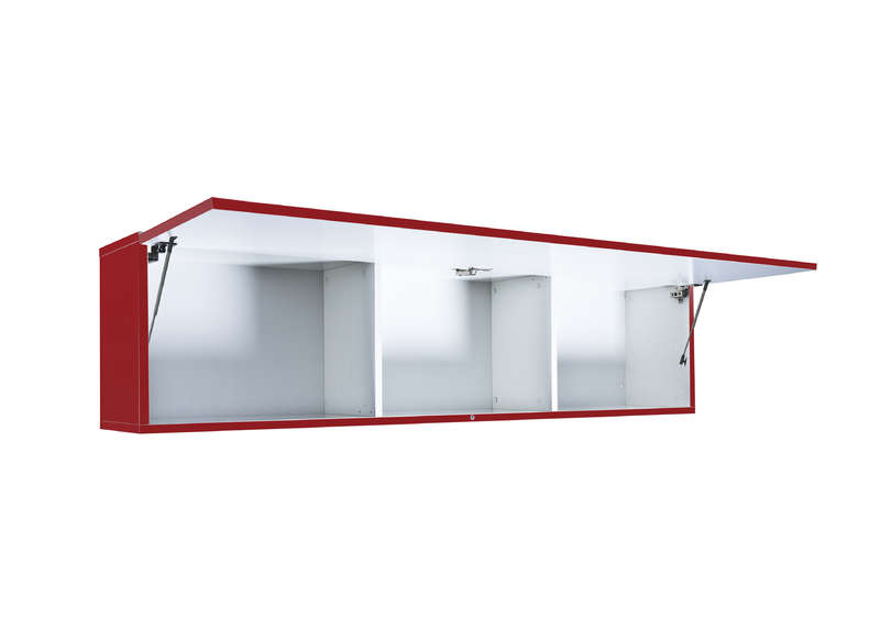 meuble tv mural rouge horizontal up l - Meuble Tele Rouge Laque