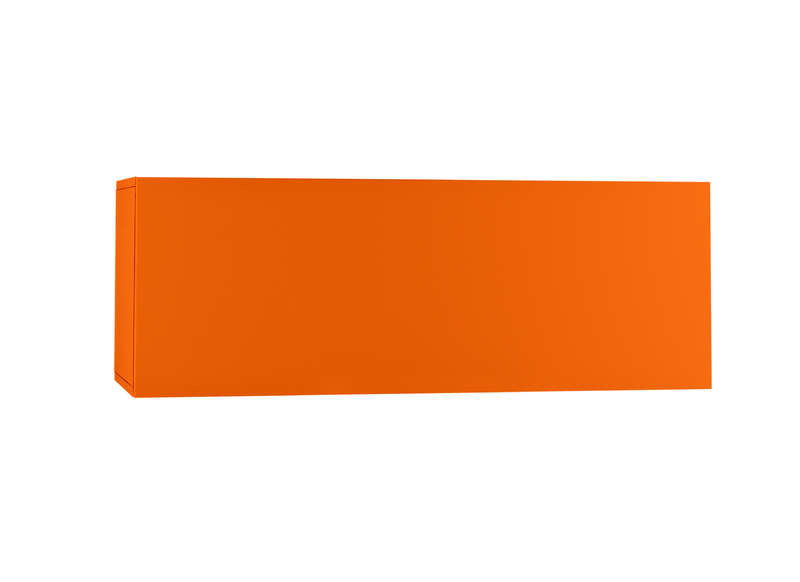 Meuble tv mural design prix discount horizontal u m for Meuble orange