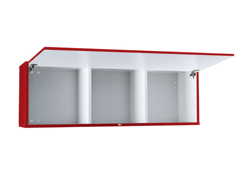 Meuble tv mural Rouge Horizontal up M