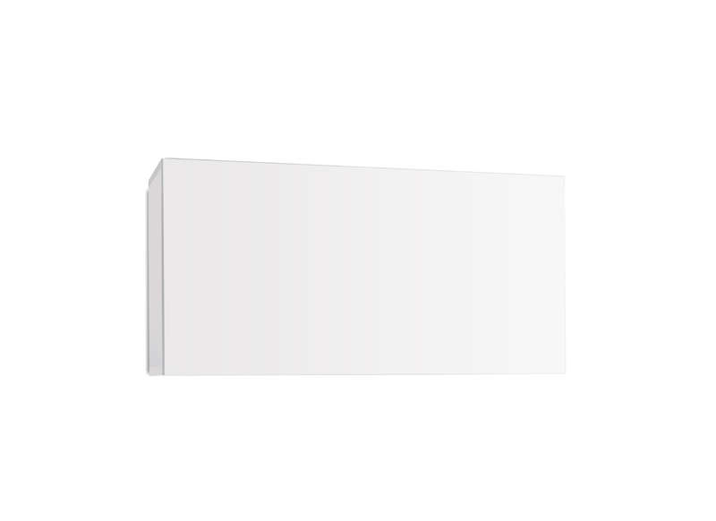 Meuble tv mural design Blanc Horizontal up S