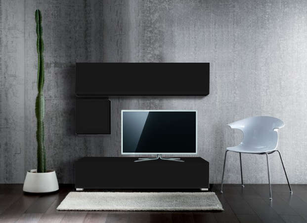 Ensemble tv mural pas cher madison achatdesign - Ensemble mural tv pas cher ...