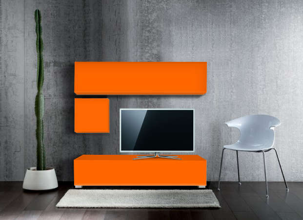 Ensemble tv pas cher design Orange MADISON