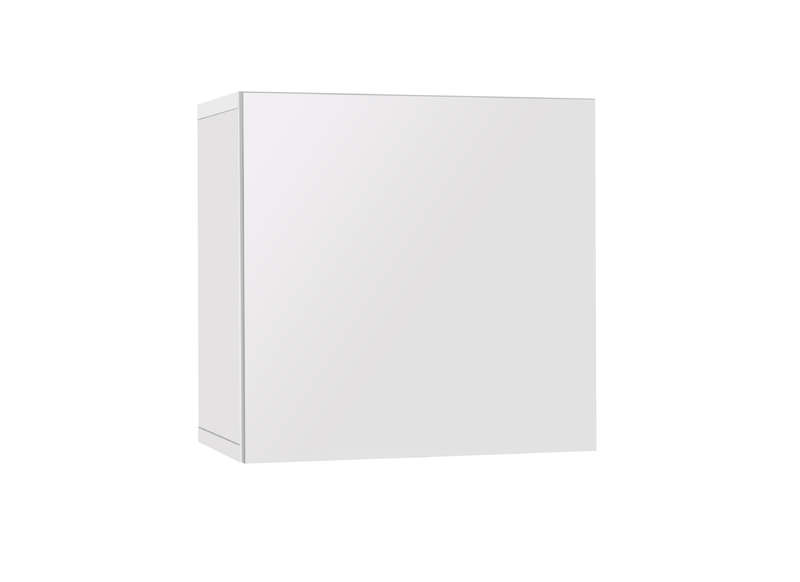 Buffet cube suspendu laqu blanc achatdesign - Meuble suspendu laque blanc ...