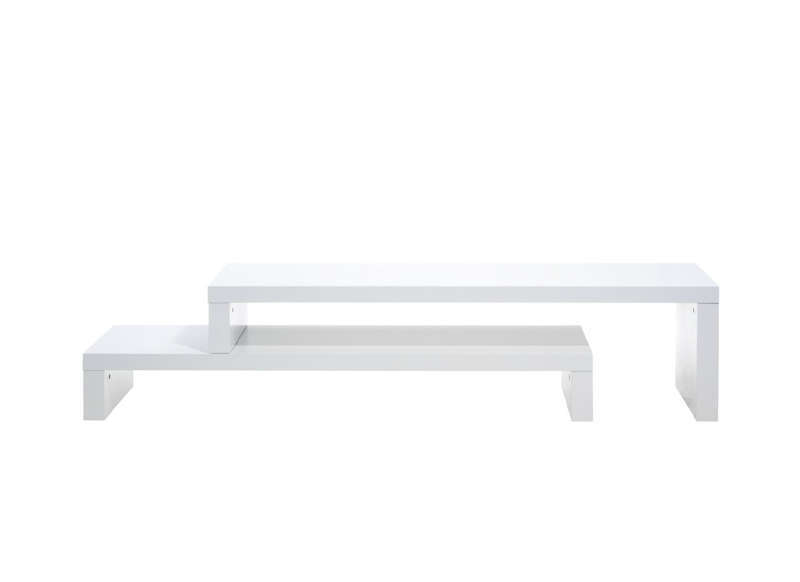 Meuble tv design blanc 125 cm skien for Meuble tv blanc design