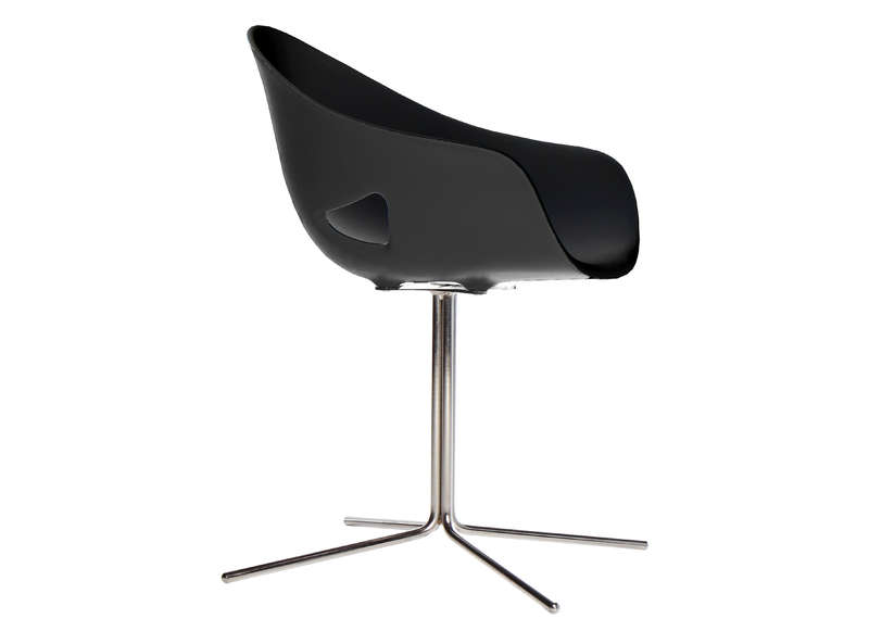 Chaise Ronde Pied Central Noir OVO ETOILE