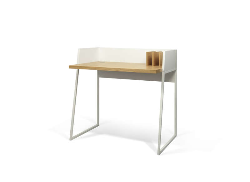 petit bureau d 39 appoint scandinave plateau en ch ne volga. Black Bedroom Furniture Sets. Home Design Ideas
