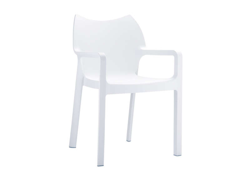 Chaise de jardin design Blanc POP