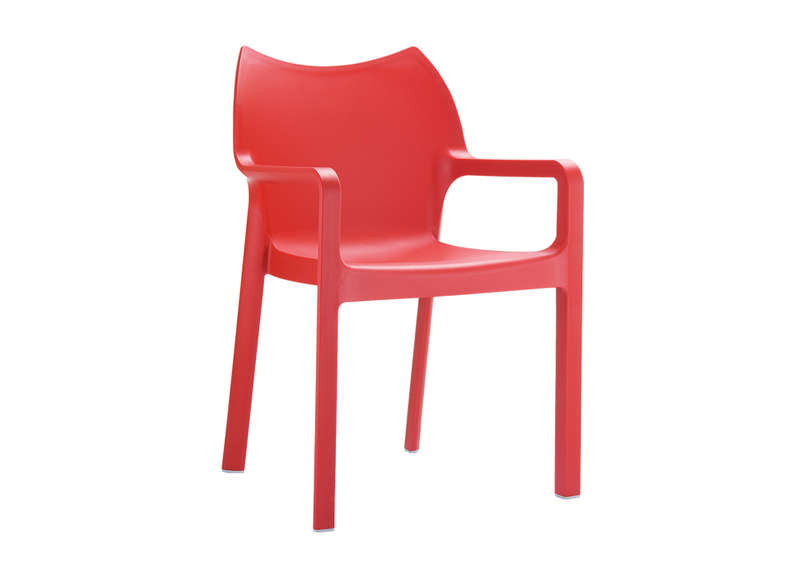 Chaise de jardin design Rouge POP