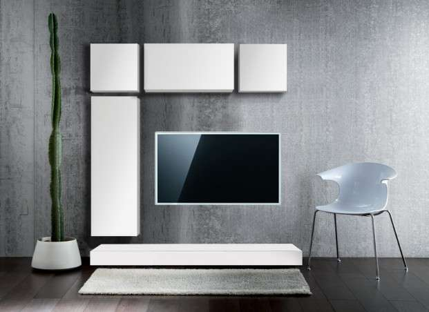 ensemble tv laqu design prix discount achatdesign. Black Bedroom Furniture Sets. Home Design Ideas
