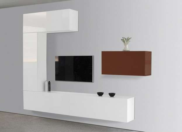 ensemble tv mural laqu romance achatdesign. Black Bedroom Furniture Sets. Home Design Ideas