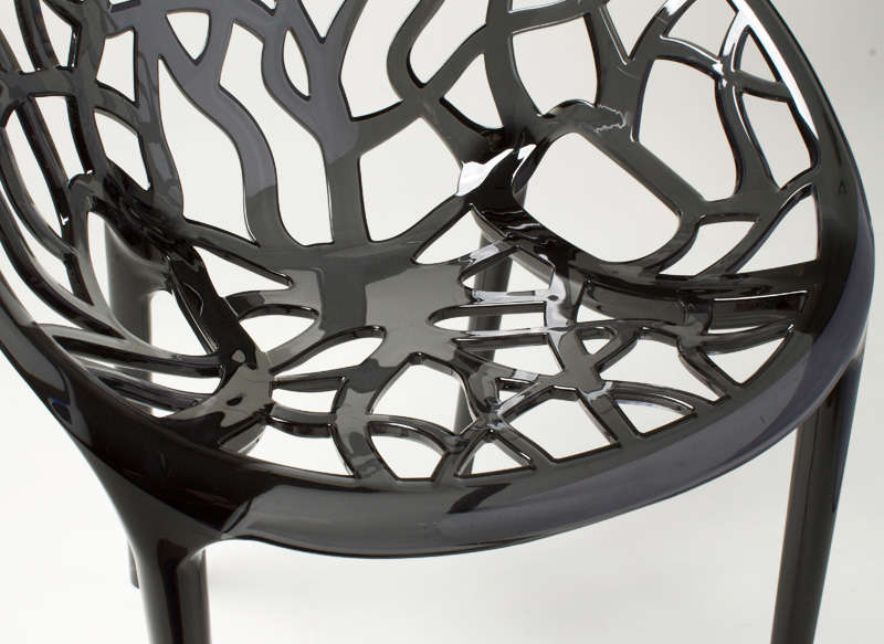 Chaise design en plastique Noir CRYSTAL