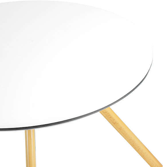 Table ronde blanche Blanc COPENHAGUE TABLE