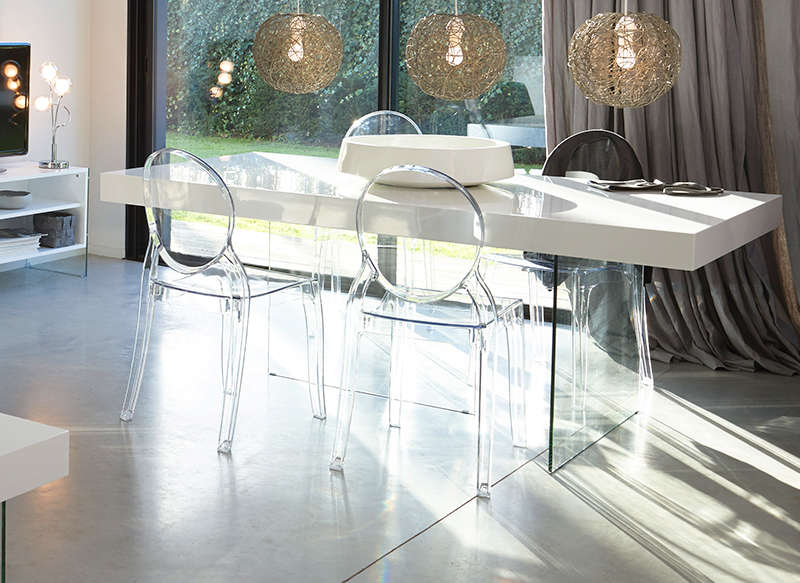 Table Et Chaise Transparente Homeisu