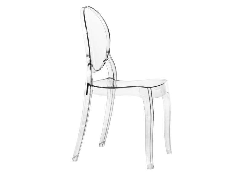 Chaise médaillon Transparent ELIZABETH