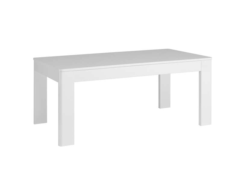 Table Extensible Laque Blanc.Table Extensible Laquee