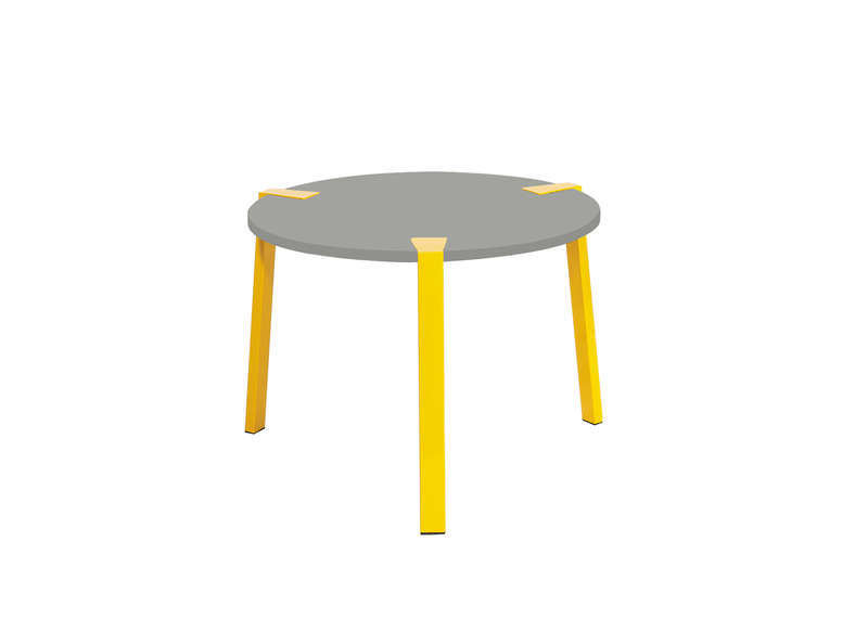 table basse ronde jaune et grise elvi achatdesign. Black Bedroom Furniture Sets. Home Design Ideas