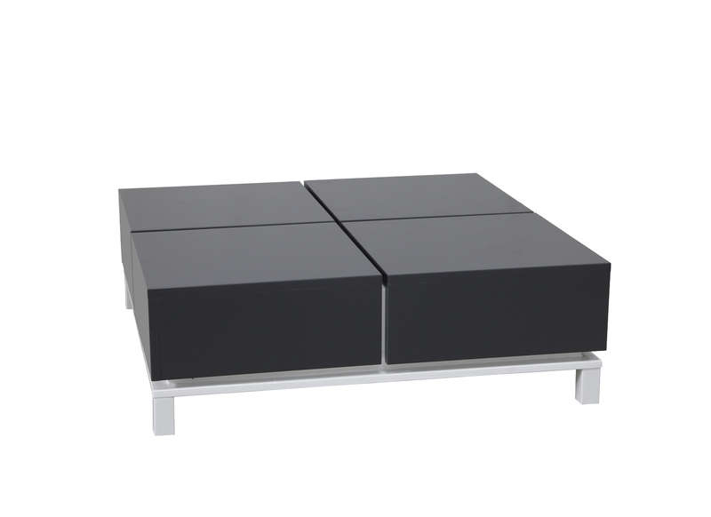 Table basse plateau coulissant design for Plateau pour table basse