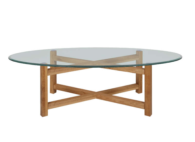 Table basse en verre ovale ralia achatdesign - Table basse ovale en verre ...