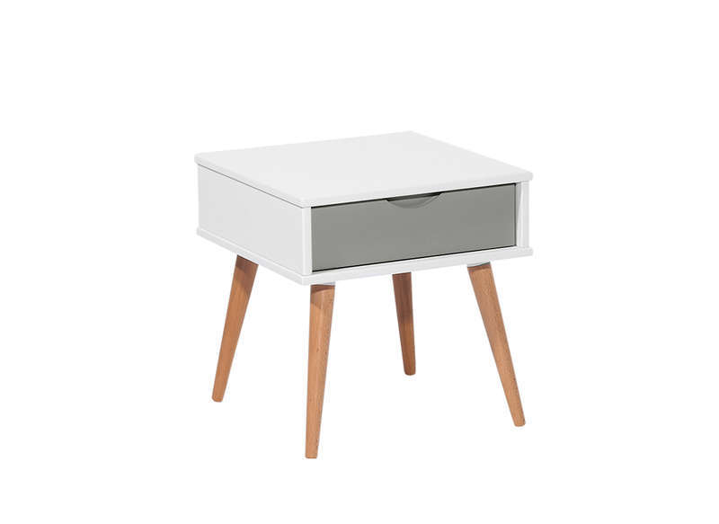 Chevet moderne - Table de chevet cuir blanc ...