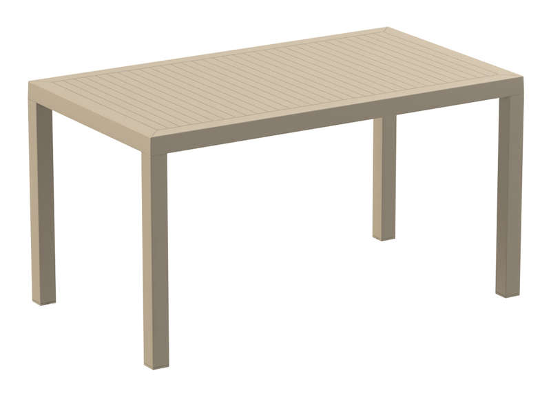 Table de jardin rectangulaire en r sine ares achatdesign - Table de jardin resine blanche ...