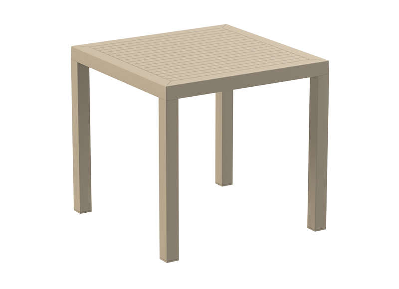 Table de jardin carrée design taupe Ares