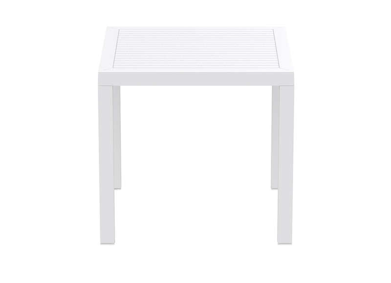 Table de jardin carrée design marron Ares