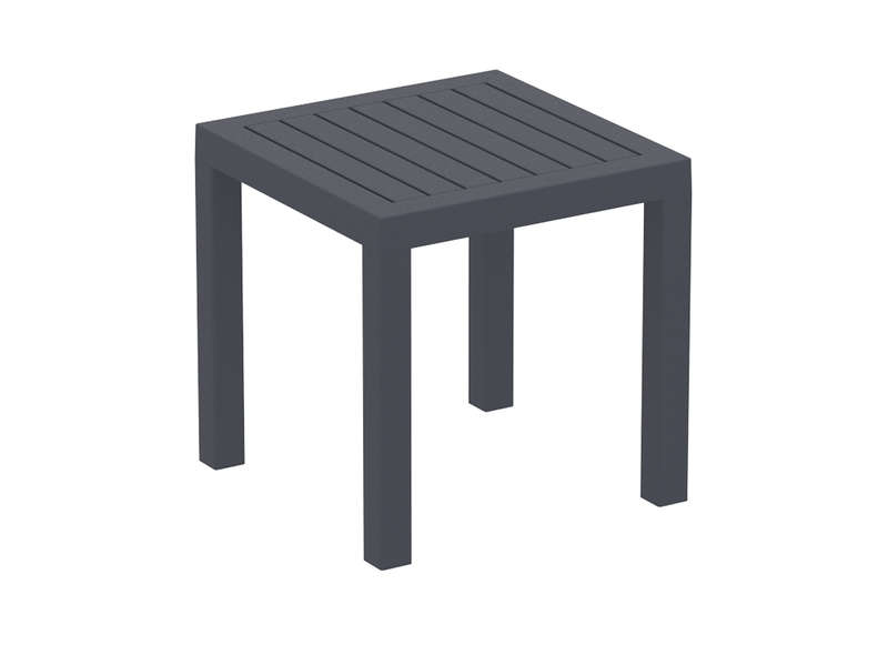 Table basse jardin carr e en r sine pacific achatdesign for Table exterieur plastique noir