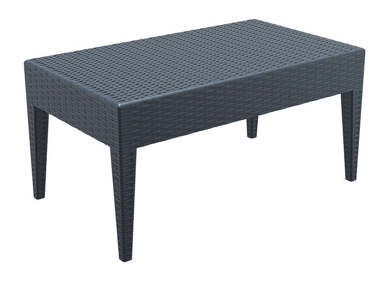 Table basse de jardin en r sine tress e achatdesign - Table basse resine tressee noir ...