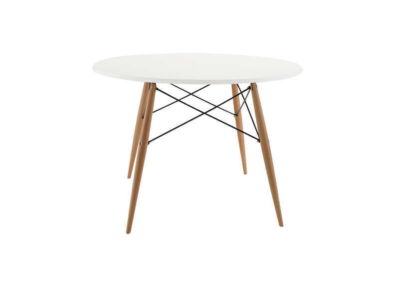 Table ronde scandinave achatdesign - Table de cuisine ronde blanche ...