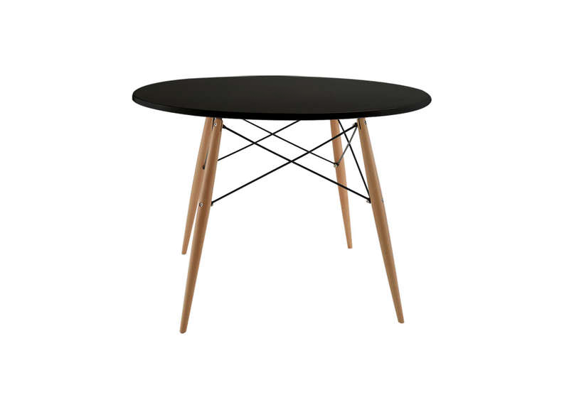 Table ronde scandinave blanc kennedy table ronde - Table ronde noire avec rallonge ...