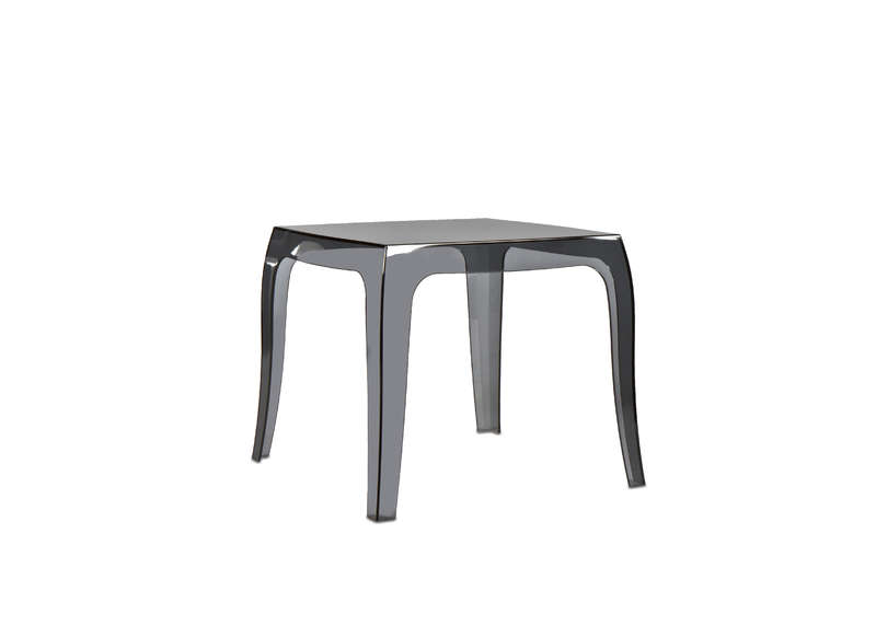 TABLE BASSE CARREE transparente Noir QUEEN