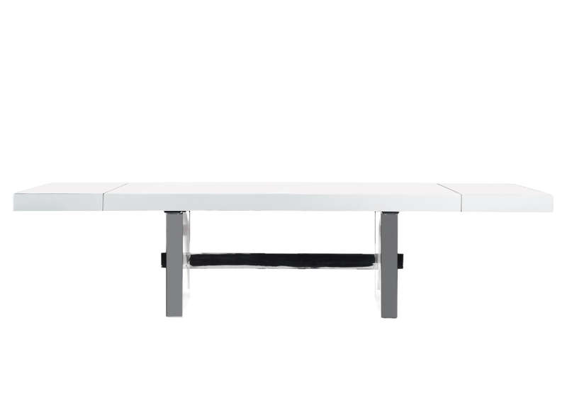 Table extensible luxe laqu e achatdesign - Table extensible blanche ...