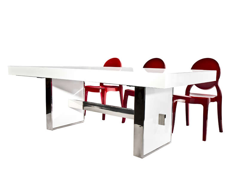Table extensible luxe laqu e achatdesign - Table laquee extensible ...