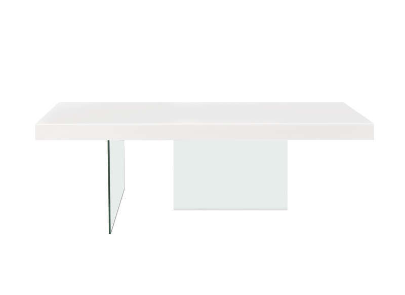 Sous pied de table en verre for 2 sous de table