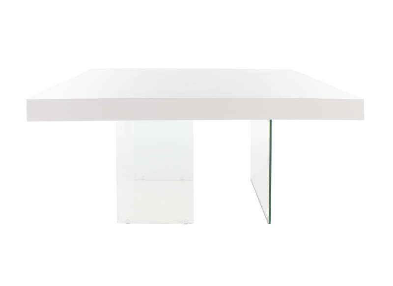 Table carree 8 personnes blanc laque - Table carree blanc laque avec rallonge ...