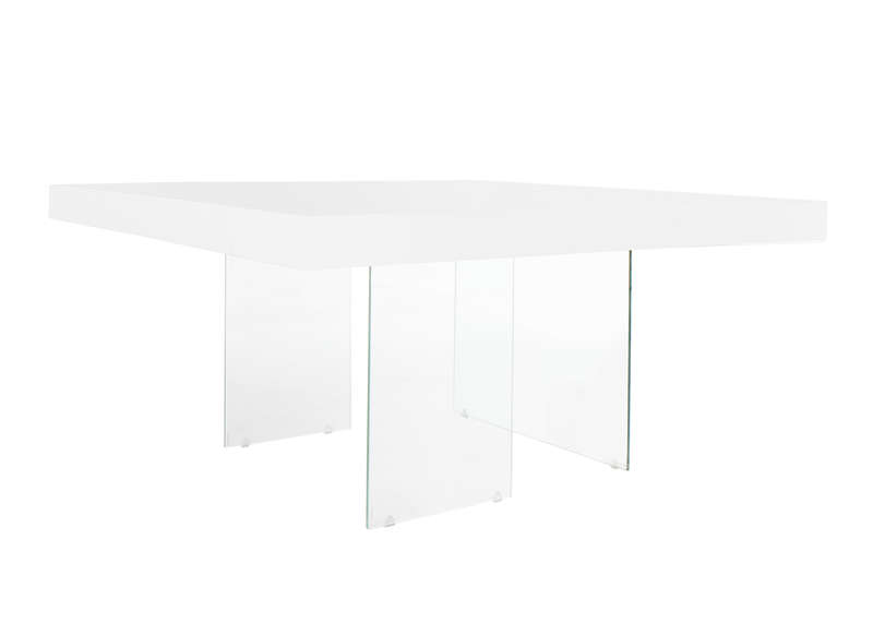 Table carrée laquée blanche Blanc INFINITY CARREE LAQUEE