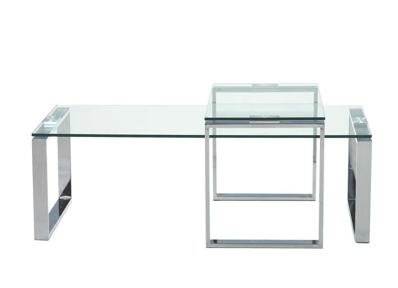 Table basse en verre kristal achatdesign - Petite table basse en verre ...