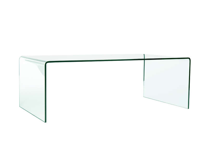 Table basse en verre blanc for Table basse newport maison du monde
