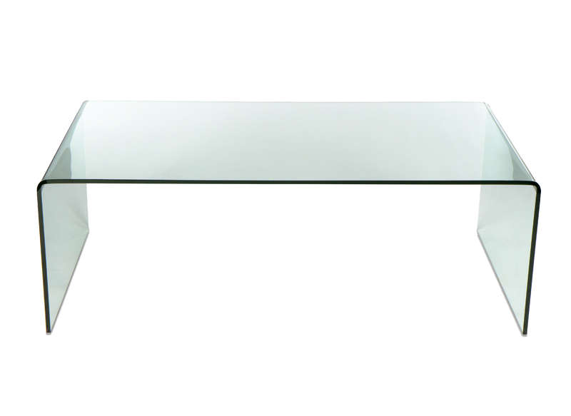 Table verre transparent - Table basse tout en verre ...